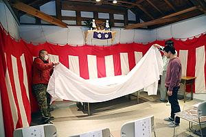 珠蓮会事務所開き前日準備